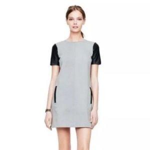 Club Monaco Gray Black Cecilia Shift Dress Sz 6